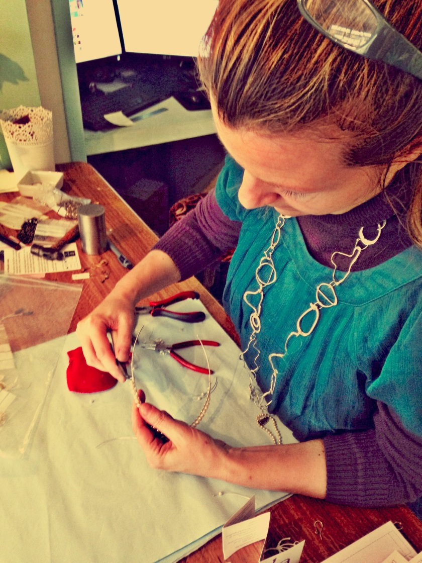 Lisa Anne Nash in her studio